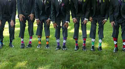 女性の目もひく!結婚式の男性お呼ばれファッション(ソックス靴下篇)
