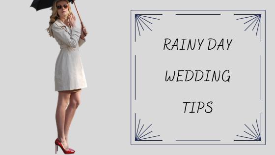 雨の日の結婚式や二次会に快適に参列する5つの方法