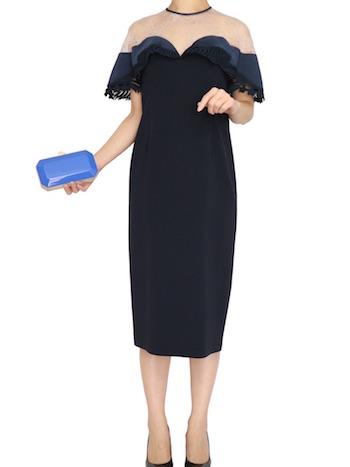 春夏のパーティードレスにぴったり『ネイビー・ブルー系』ドレス